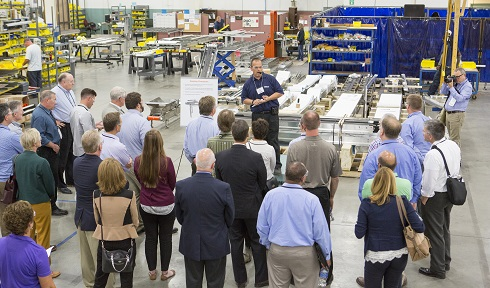 processing and packaging professionals tour Dorner Mfg.