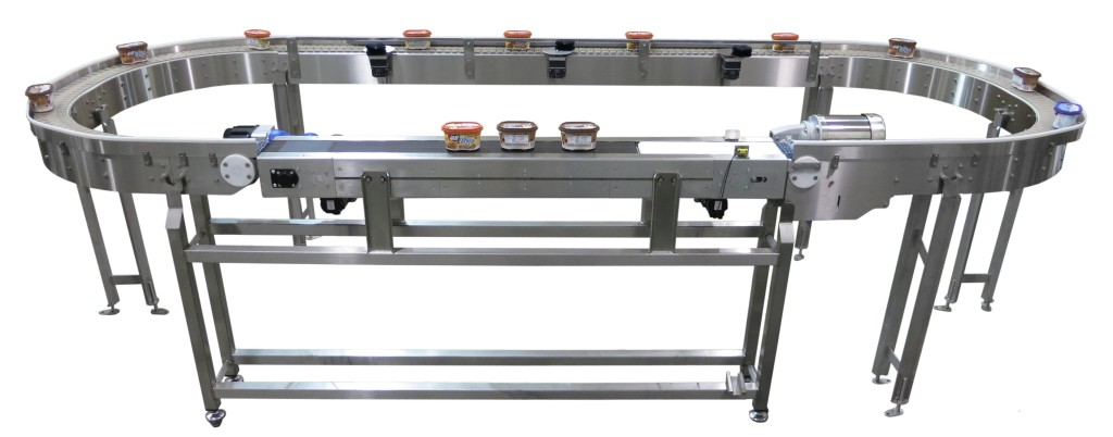 AquaGard 7100 Series stainless steel flexible chain conveyor
