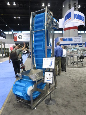 AquaPruf 7600 VBT Vertical Belt Conveyor on display at Chicago Expo